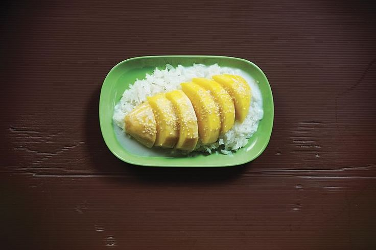Khao Niaw Mamuang (Sticky Rice with Mango and Salty-Sweet Coconut Cream)  recipe on Food52