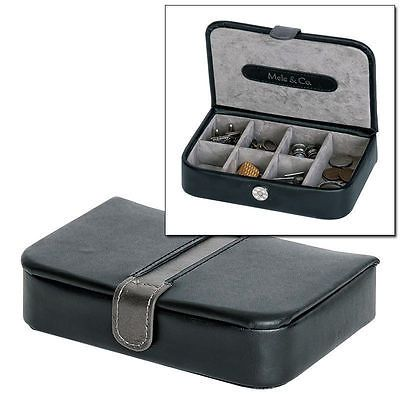 Gents black #bonded leather #cuff#links case cuff #links organiser box by mele & c,  View more on the LINK: 	http://www.zeppy.io/product/gb/2/351617078826/