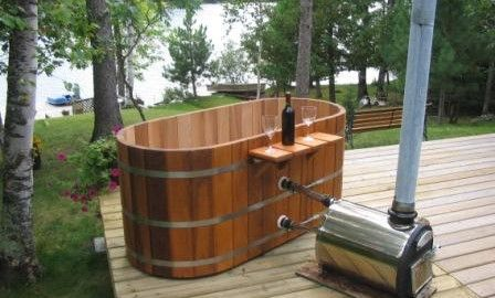 20 best wood fired hot tub images on pinterest hot tubs - Jacuzzi exterior barato ...