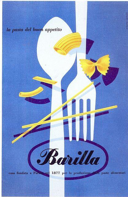 postcard - pasta - adv - 1952 by sonobugiardo, via Flickr