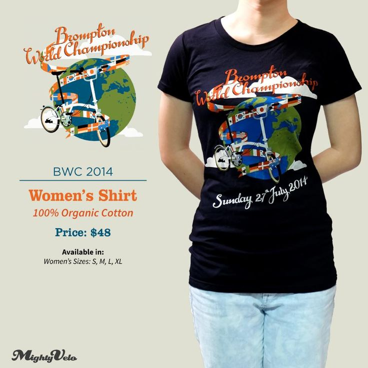 The limited run Brompton World Championship 2014 - Female Slim Cut is now available at the store. Made of organic cotton, this tee is super comfy! Fans of the annual BWC tee love this!   Retails at SGD 48.   MV Brompton customers enjoy a special discount!  #brompton #female #tshirt #mightyvelo