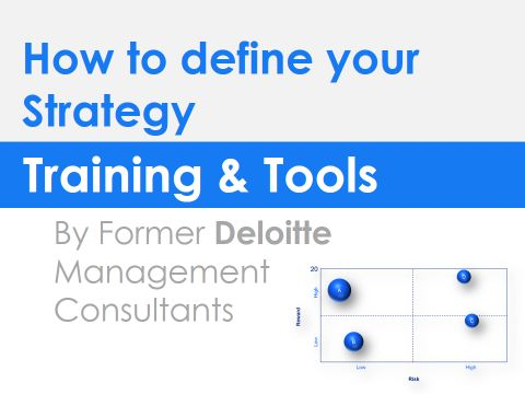 Strategy Definition Training in editable Powerpoint slides. Click on it to access to the editable version