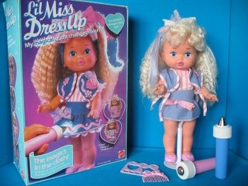 Fabulously 80's Lil' Miss Dress Up.  You could draw on her clothes and color her hair.  She was so radical.