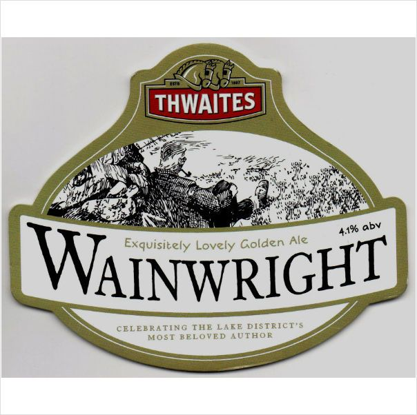 Thwaites Wainwright Exquisitely Lovely Golden Ale 4.1% bar pump plaque