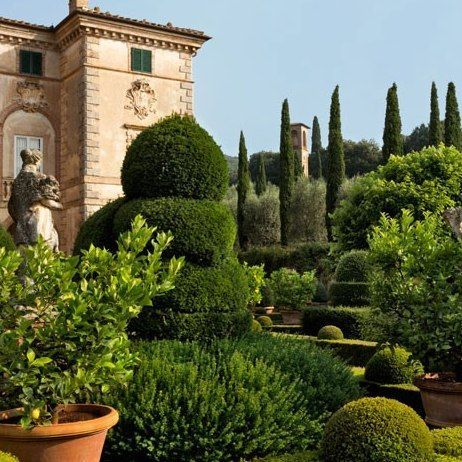 VILLA CENTINALE The garden façade of Villa Cetinale, the 17th-century Tuscan residence of Ned and Marina Lambton, the Earl and Countess of D...