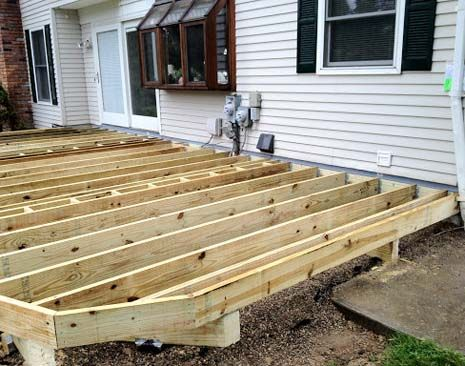 Trex's deck cost estimator can calculate the expected price of your new deck with new wood substructure.