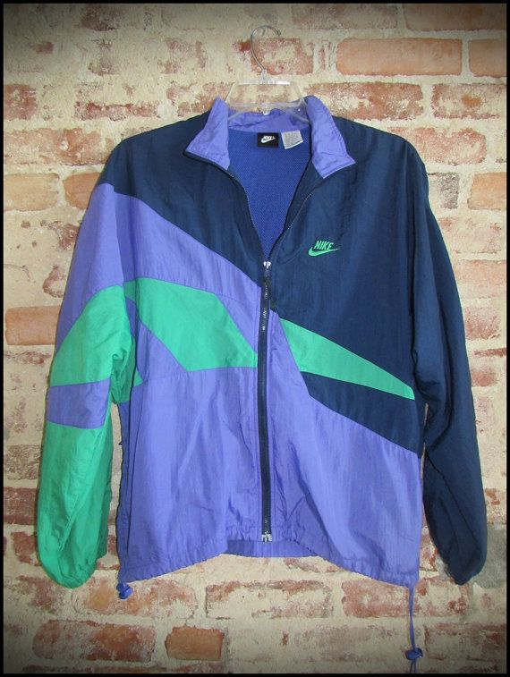 Vintage 90's Nike Pastel Color Windbreaker Jacket and Pants Suit by RackRaidersVintage
