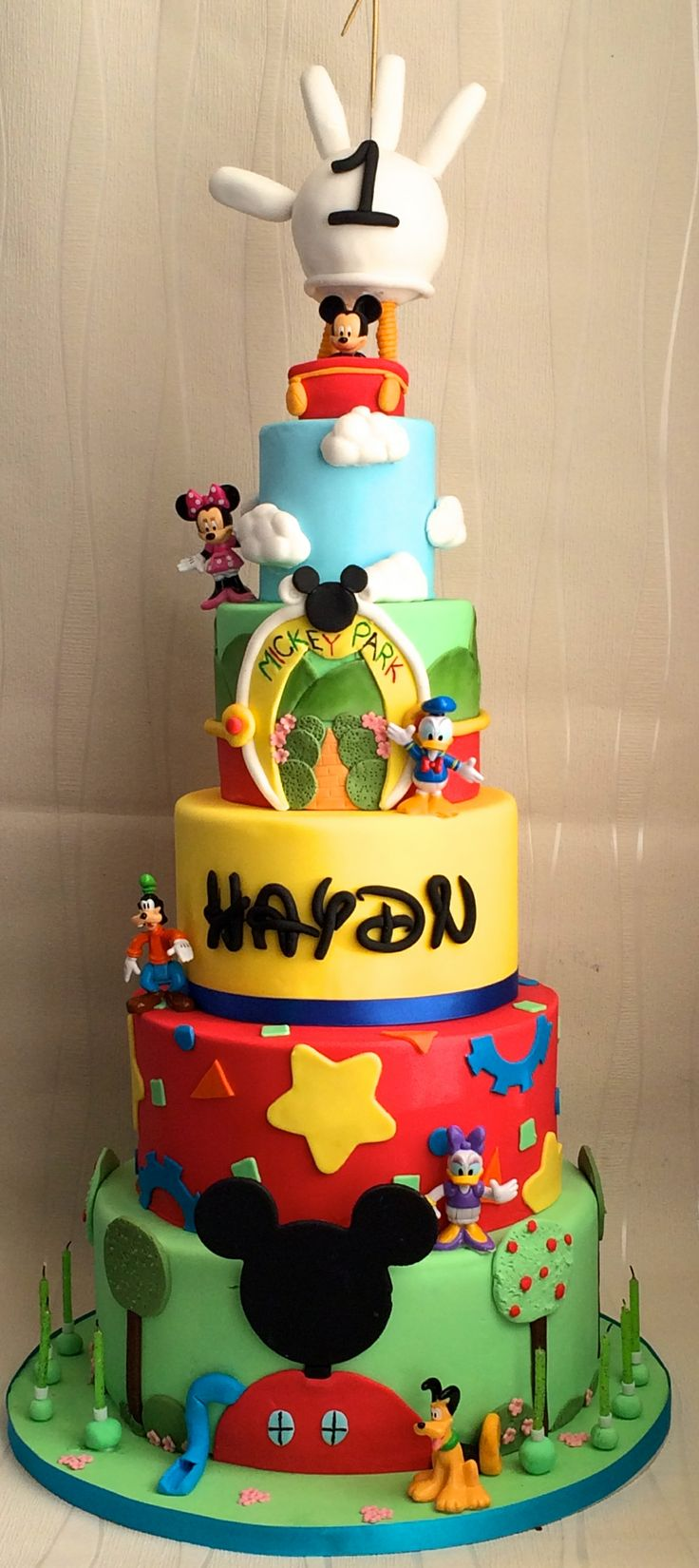 1st Birthday Mickey Mouse Clubhouse Cake