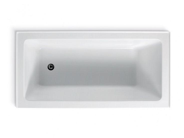 Arc Inset Bath 3 Tile Flange L