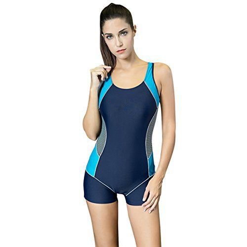 Asvert Womens One Piece Swimsuit Boyleg Swimwear Sports Swimming Costume Blue Detailed Size Info(in inches)  S :(uk6):Bust :34.25 inches,Waist :26 inches,Hips:36.5inches  M :(uk8):Bust :36 inches,Waist :28 inches,Hips:38.5inches  L:(uk10):Bust :37 inches,Waist :29 inches,Hips:39.5 inches  xL:(uk12):Bust :38.5 inches,Waist :30.5 inches,Hips:41.5 inches  xxL:(uk14):Bust :40 inches,Wais