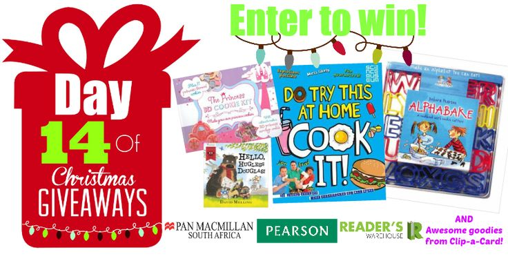 Day 14 Hamper sponsored by Pan Macmillan, Pearson & Clip-a-Card is the perfect hamper for all aspiring little chefs. Filled with goodies that prove that the kitchen can be filed with fun. Enter here: https://gleam.io/6ZiMc/day-14-of-christmas-giveaways