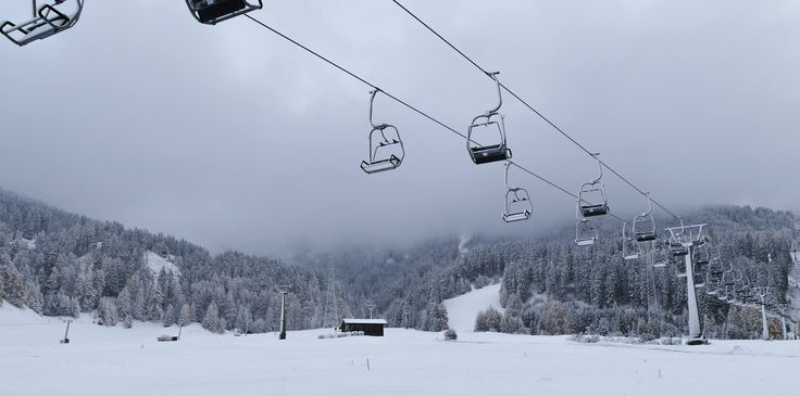 Wintereinbruch Skigebiet Nauders am Reschenpass