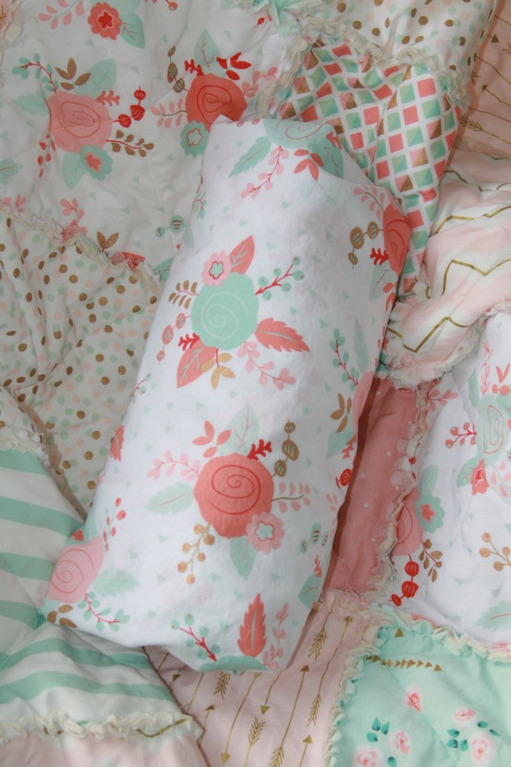 Crib Sheet Baby Girl Crib Bedding Peach Mint Gold Nursery by justluved on Etsy https://www.etsy.com/listing/269853620/crib-sheet-baby-girl-crib-bedding-peach