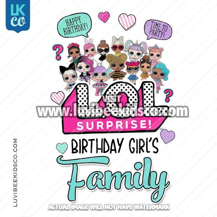 LOL Surprise Dolls Iron On Transfer Design – Add Family Members – Blue – LOL Sur… – LoL Dolls