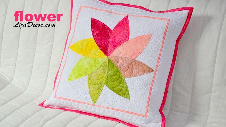 Patchwork Flower (květ) -  Patchworkové šablony LizaDecor