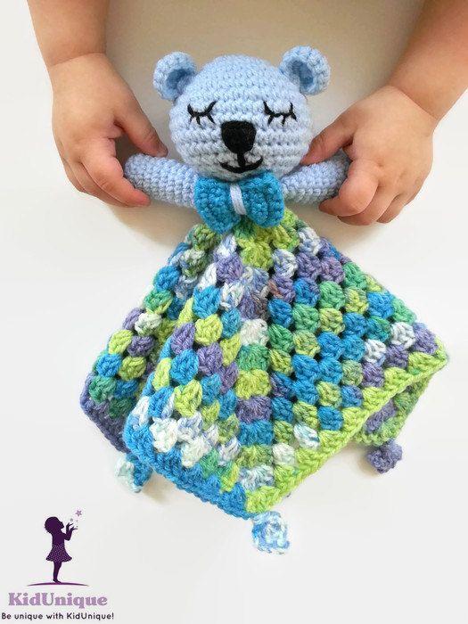 Blue baby veiligheid deken gehaakte deken baby door KidUniqueCrochet