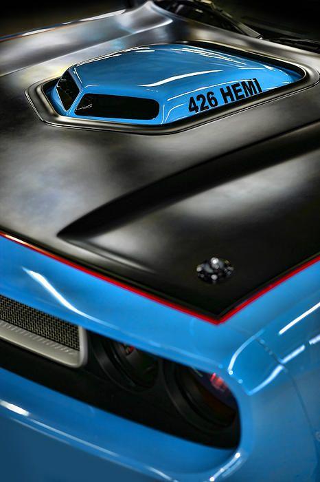 Nothing like a Hemi! This is one sweet car.  #hemimotor, #mopar, #hotrod
