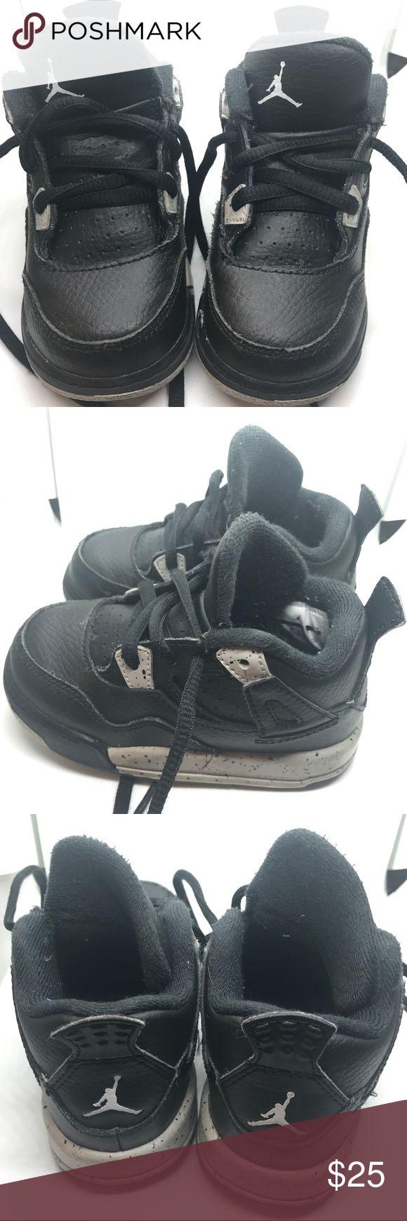 Toddler 6c Jordan Retro 4 Oreo Great condition! Air Jordan Shoes Sneakers