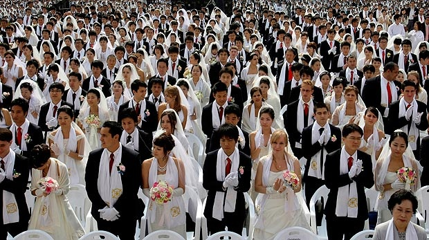 First Moonies mass wedding since death of Sun Myung Moon