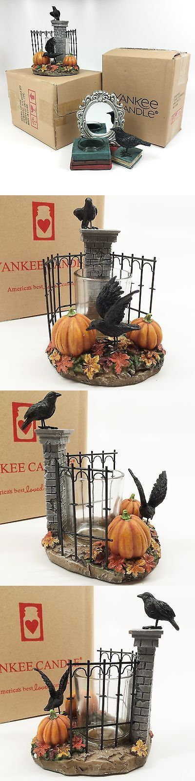 Candle Holders and Accessories 16102: Yankee Candle Raven Spooky Gate Votive And Mirror Crow Books Tea Light Holder Set -> BUY IT NOW ONLY: $49.99 on eBay!