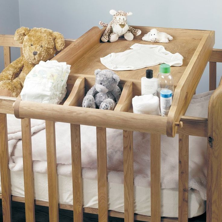 Amelie Solid Oak Baby Cot-Top Baby Changer - - Bed - Baumhaus - Space & Shape - 3