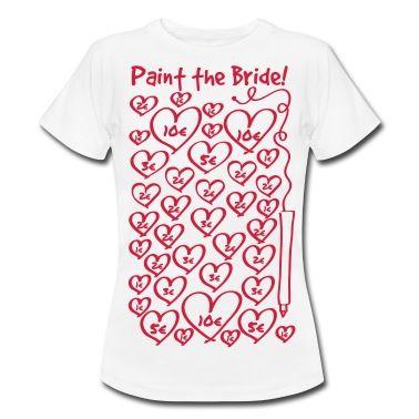 Maglietta con Vernice per la sposa - addio al nubilato