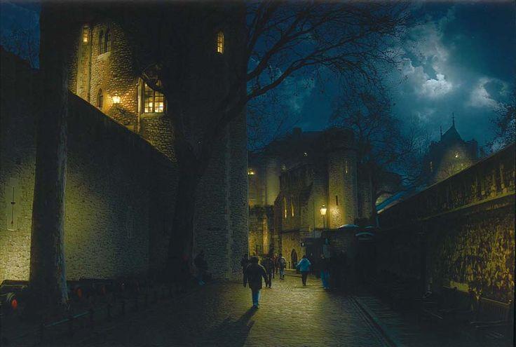 Matte painting: Лондонский Тауэр, Создание ночного снимка из дневного
