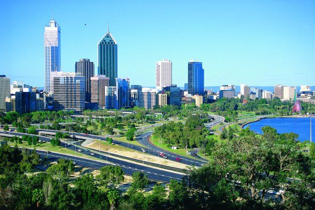 City of Perth from Kings Park