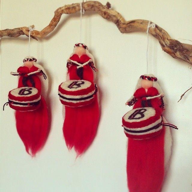 'Carnival' wool fairies for Batala Portsmouth. Batala Hey!