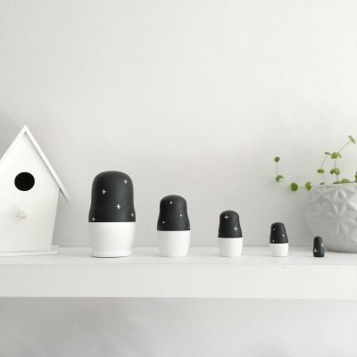Monochrome Nesting Dolls by Tiger Lily Tots