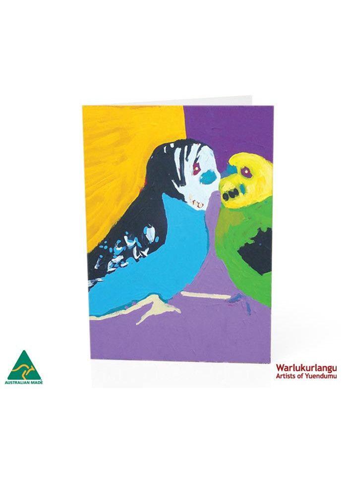Birds of Yuendumu  Art Card -  Kiss