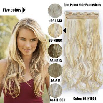 61 Centímetros 120 Gramas 1 peça Mega Hair Tic Tac Cabelo Sintético Ondulado Loiros Claros Mechados //Price: $68.97 & FREE Shipping