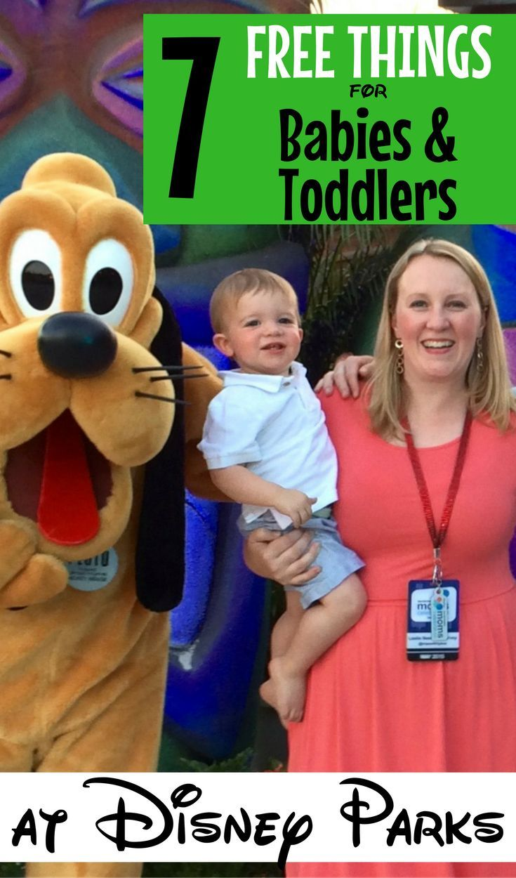Free things for babies & toddlers at Walt Disney World and Disneyland: Stick to your family's Disney vacation budget by taking advantage of these 7 free things that families with young kids can really use!