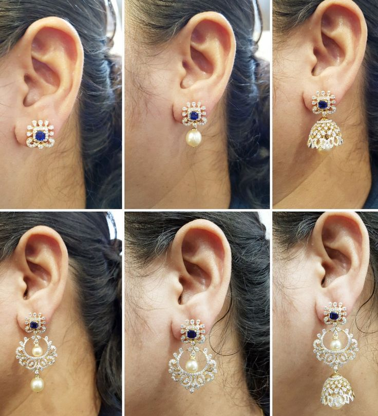 Diamond Earrings / Jhumkis / Bali - Diamond Jewelry Diamond Earrings / Jhumkis / Bali (FER0147A65) at USD 4,286.96