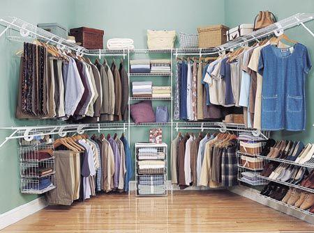 Wire ventilated shelving closet rack systems  #racks #clothes_racks
