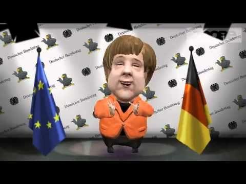 Глубокомысленная речь Меркель. Zoobe Меркель. Zoobe на русском. Пуговка, пуговка, тумбочка, тумбочка, шкаф, шкаф, шкаф, шкаф...
