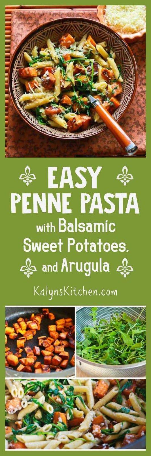 chicken garlic sausage arugula salad with penne garbanzo beans and sun ...