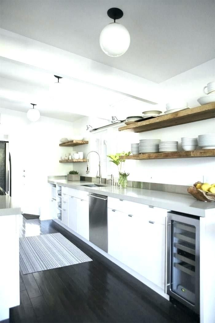 kitchens without upper cabinets images galley kitchen ...