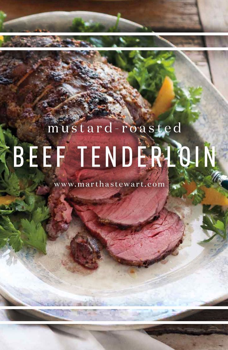 Mustard-Roasted Beef Tenderloin | Recipe | Beef tenderloin ...
