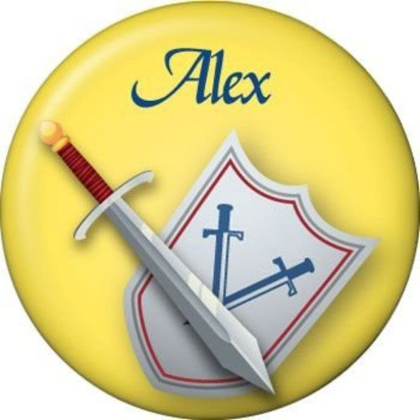 Check Out Mini Personalized Knight Button