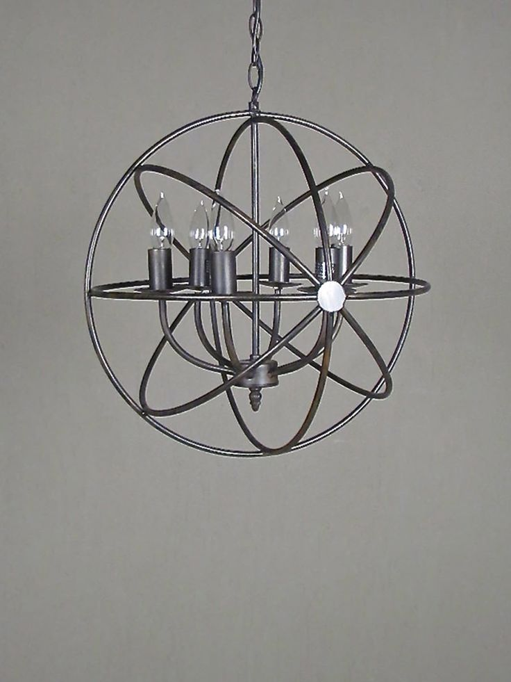 molecular movement chandelier the molecular movement chandelier elegantly surrounds a core of 6 lights with metal 'orbits' of it's own. elegance meets futurist design in this chic chandelier. pop in round clear bulbs for a more modern, edgy look or keep the candle-inspired bulbs shown here for an 'electric' vintage + modern look.