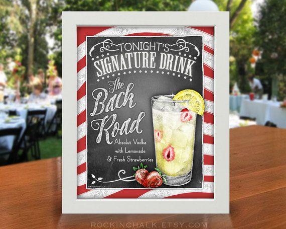 Signature boisson signe  La route de dos  Signe de Cocktail