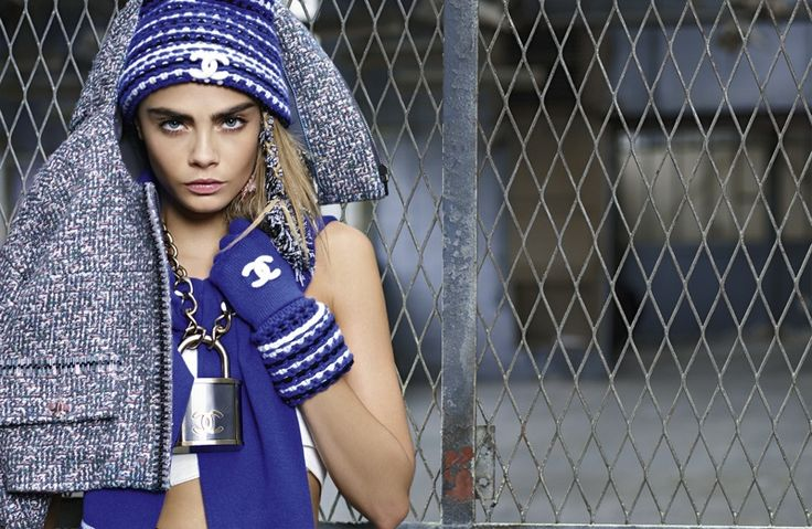 More Photos From Chanel's Fall 2014 Ads with Cara Delevingne + Binx Walton