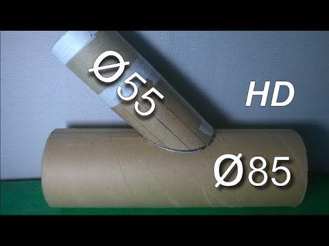 Boca de Lobo com tubos diferentes em 45° - Caldeiraria