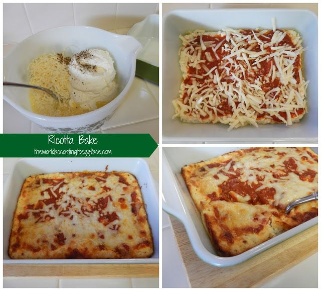 Eggface Baked Ricotta: Pureed Foods Stage for Post Weight Loss Bariatric Surgery