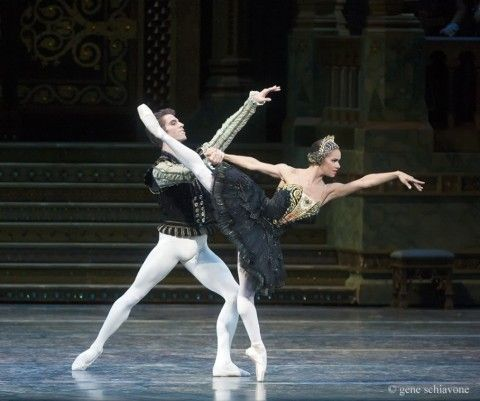 "Misty Copeland and James Whiteside in ""Swan Lake"" at the Metropolitan Opera House"