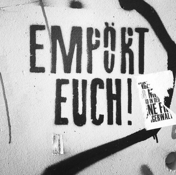 Empört Euch!   © Eve Lingen #streetart
