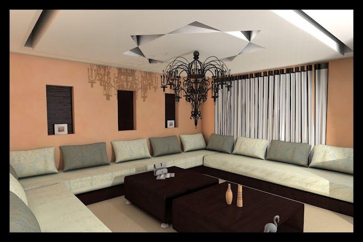 Salon marocain beau et simple design interieur for Salon marocain simple
