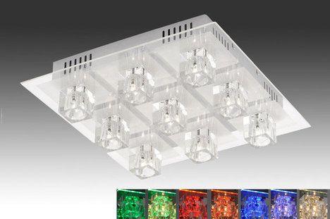 LED-Deckenleuchte OKI - Farbwechsel Fernbedienung