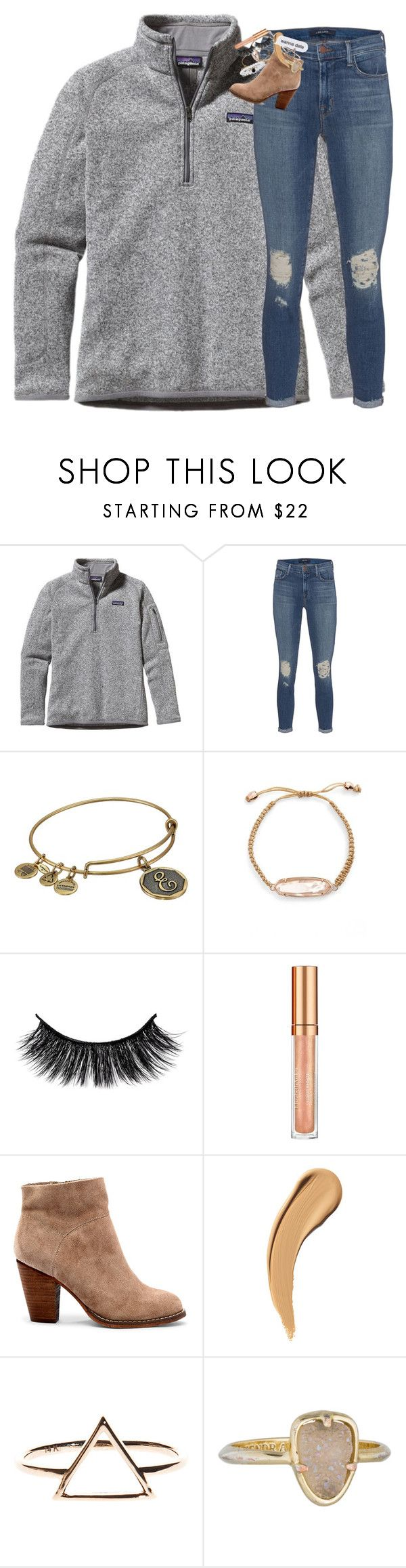 """""""silent people have the loudest minds"""" by classynsouthern ❤ liked on Polyvore featuring Patagonia, J Brand, Alex and Ani, Kendra Scott, Elizabeth Arden and Sole Society"""